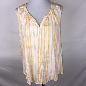 Lucky Brand Sleveless Hi-Low Striped Tank Top - L